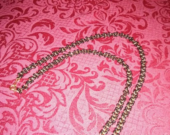 """Vintage 24"""" navy beaded necklace"""