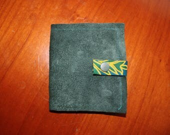 wax and leather card holder