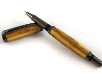 Zebrawood Screw Cap Wood Pen