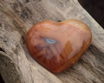 Heart Shaped Carnelian
