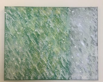 Let It Snow - Original Abstract Acrylic Painting 11x14