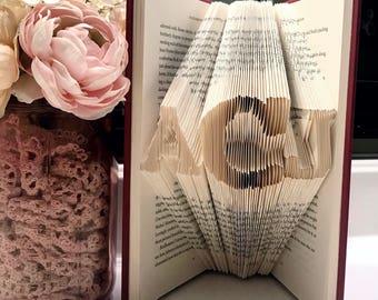 Monogram Folded Book Art