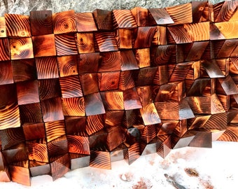 """Reclaimed, Reclaimed Wood, Wall art, Wood art, Abstract, Sound Panel, Home Decor, Room Decor, Rustic, Cabin, Outdoor, """"Subtle Temperament"""""""