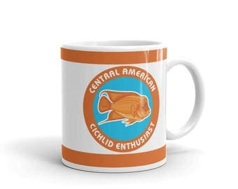 Aquarium Fish Lover Mug - Cichlid Fish Mug - Central American Cichlid Enthusiast - Coffee Drink Mug