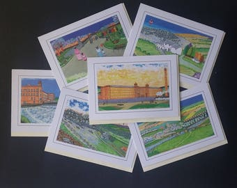 Handmade Greetings cards - assorted Vintage Yorkshire Victorian and Edwardian Scenes made from original mixed media hand-made paintings