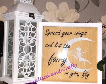 Fairy frame/Fairy on a swing/Fairy White Frame/Fairy Picture/Great Fairy Gift/Handamde Fairy Frame
