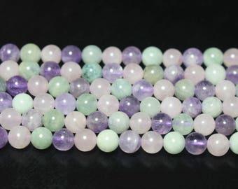 15 Inches,Natural Amethyst Quartz round beads,Rose Quartz beads,Aquamarine loose beads,semi-precious stone,6,8,10,12mm