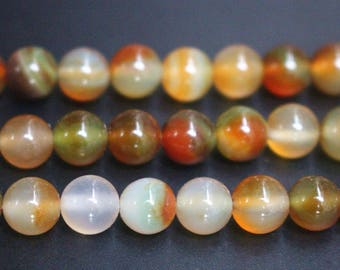 15 Inches Full strand,Natural  Peacock Agate Gemstone Smooth Round Beads 8mm ,loose beads,semi-precious stone