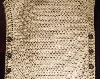 Crochet Turtleneck Poncho Pattern