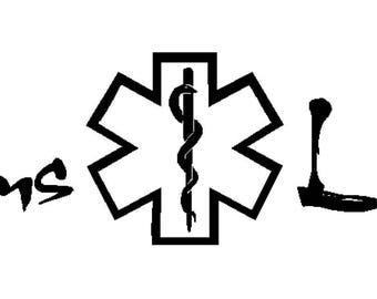 Ems Life decal for home or car