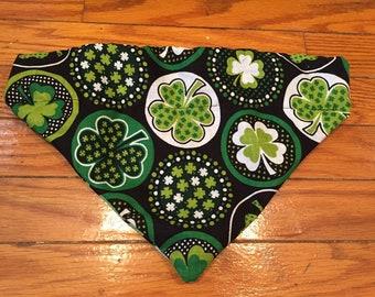 St. Paddy's Day 2- Dog Bandana, Clovers, St. Patrick's Day