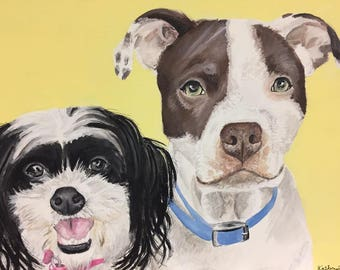 Two Pets on 11x14