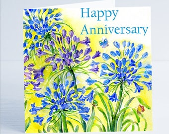 Happy Annversary Flower Greeting Card