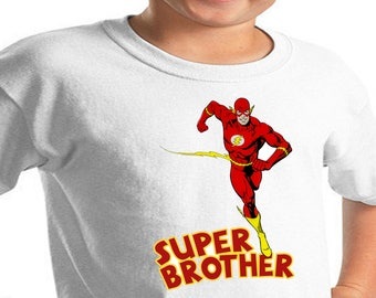 The Flash , Iron On Transfer , Superhero Brother ,  Brother Birthday Shirt Design , Superhero Printable , Instant Download , Digital Files
