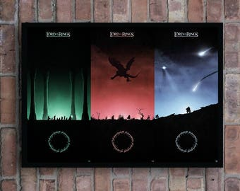 The Lord Of The Rings Trilogy Artwork Movie Home Decor Poster The fellowship of the ring , The two towers , The return of the king