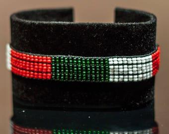 Italy Flag Bracelet | Maasai Beaded Bracelets | Flag of Italian | Italy Flag Wrist Band