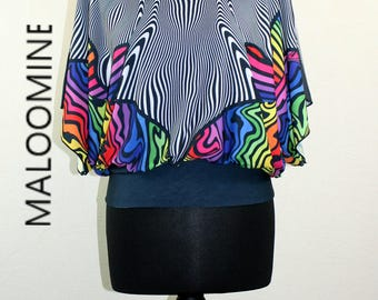 Top oversize print PSYCHEDELIC