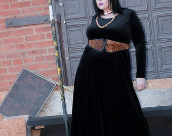 Plus Size Gothic Grunge Velvet Dress