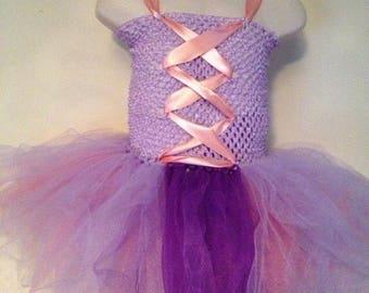 Long haired princess tutu for girls - tutu dress - princess tutu