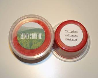 Vampires will never hurt you - glossy fake blood slime uk - 4oz