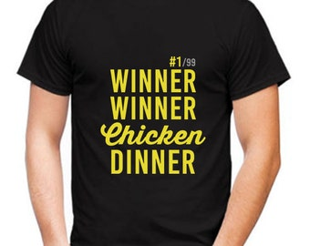 Winner Winner Chicken Dinner Shirt, Winner Chicken Dinner Shirt, PUBG shirt, Shirts With Saying, Men's T-Shirt, FUNNY T-SHIRT, Chicken Shirt