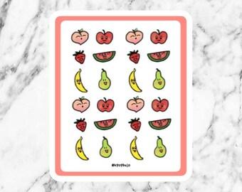 Cartoon fruit sticker sheet