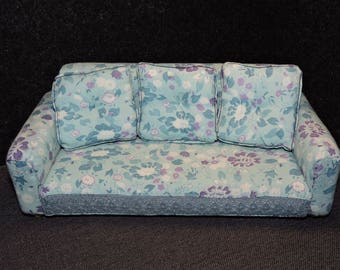 Hand Made,Vintage Couch,Doll house furniture,