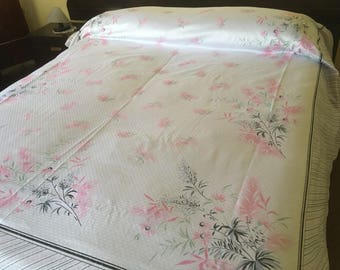 Years ' 60 bedspread with sheets and pillowcases