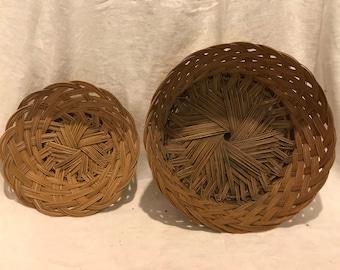 Vintage Woven Baskets - Set of 2