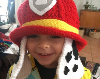 Marshall Paw Patrol hat crocheted