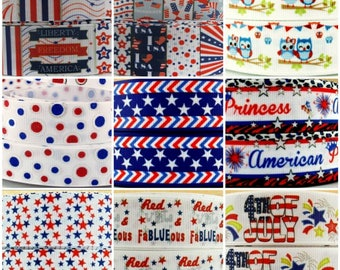 1 Inch Fourth of July USA Patriotic Ribbon, Wholesale