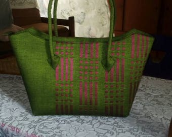 Authentic handmade satchel in the Manjaku style
