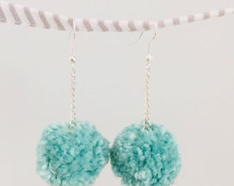 Same as the Kitchen - handmade pom-pom earrings