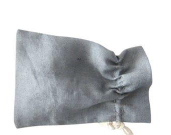 100 Grey linen bags drawstring pouches in grey linen set of 100 linen purses mini gift bags wedding favor bags grey linen packaging