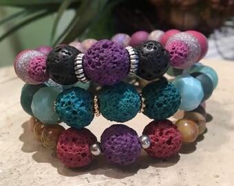 Essential Oil Diffuser Lava Bead Bracelets