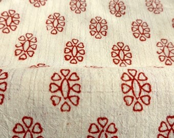 Little Hearts - Bagh Blockprint from India