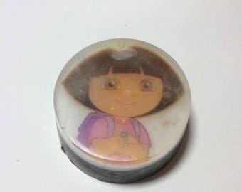 Handmade organic soap, Disney cartoon Dora the Explorer