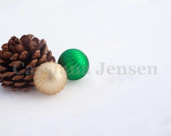 Pine cone with christmas decoration