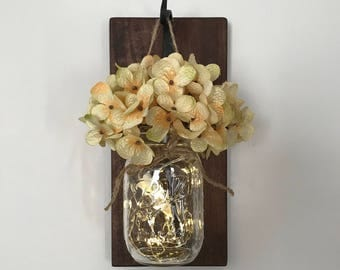 Single Hanging Mason Jar Sconce/Mason Jar Sconce/Sconce/Rustic Home Decor/Rustic Decor/Farmhouse Decor