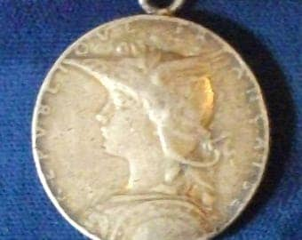1895 French Madagascar Second Expedition Campaign Medal F-VF Silver