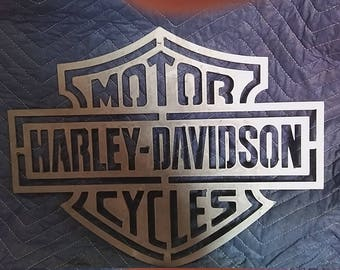 Harley Davidson logo metal sign