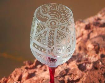 Indigenous Australian Art on glass