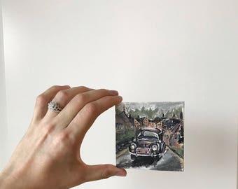 Mini vintage car