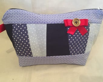Handmade make up cosmetic bag