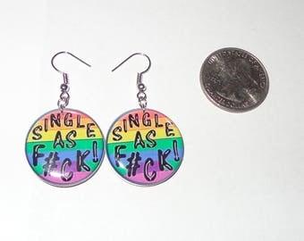 Single & Pride Dangle Earings