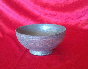 Old Style Antique Hand Made Ottoman Art Style Copper Bowl #SB4