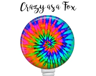 Tie Dye Retractable Badge Holder, Badge Reel, Lanyard, Stethoscope ID Tag, Nurse, RN, Doctor, Teacher, Nursing student