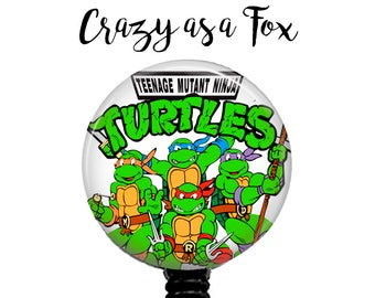 Teenage Mutant Ninja Turtles Retractable Badge Holder, Badge Reel, Lanyard, Stethoscope ID Tag, doctor, md, pa, cna  Nurse, rn, teacher gift
