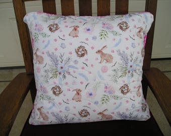 Easter Rabbit quilted envelope pillow cover