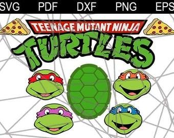TMNT Svg, Turtles Svg, Teenage Mutant svg, Ninja Turtles, Turtles Silhouettes Svg, Dxf, Eps , Png